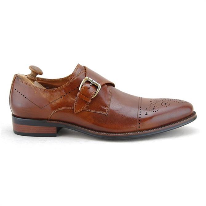 Paolo Vandini Rambeau Monk Brogue Leather Shoe