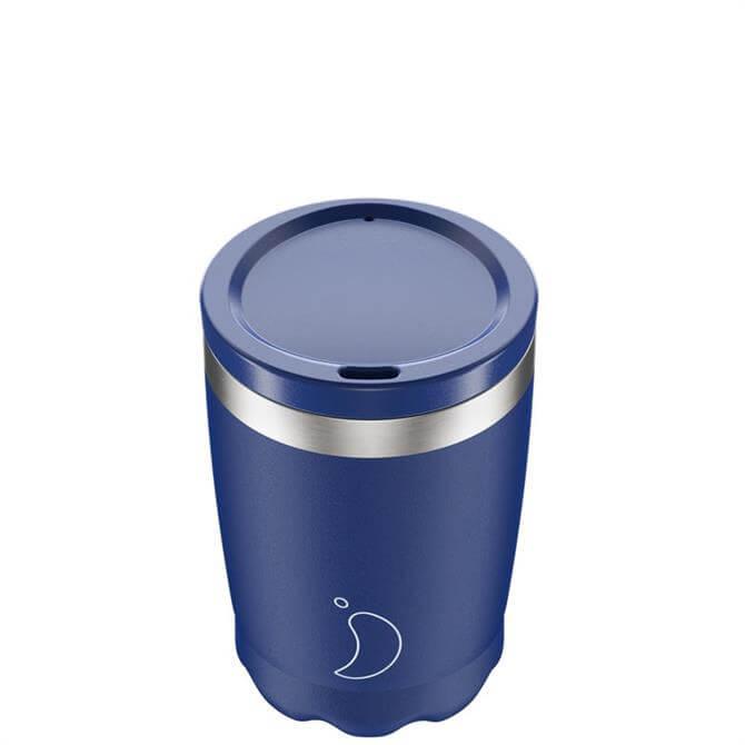 Chilly's Bottles Matt Blue 340ml Coffee Cup