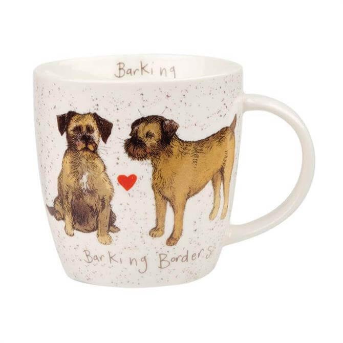 Churchill Alex Clark Delightful Dogs Barking Borders Mug