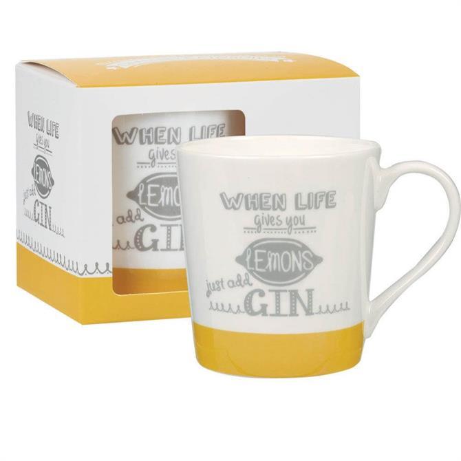 Churchill Chasing Rainbows Just Add Gin Mug