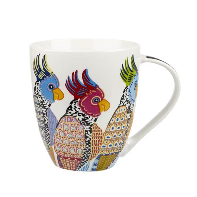Churchill Paradise Birds Perching Parakeets Crush Mug