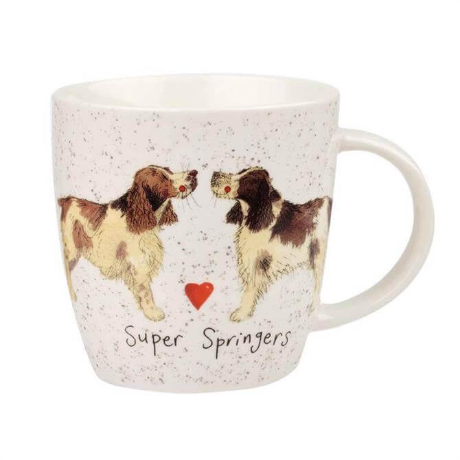 Churchill Alex Clark Delightful Dogs Super Springers Mug
