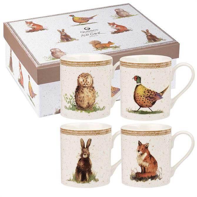 Churchill Alex Clark Wildlife Mug Set of 4