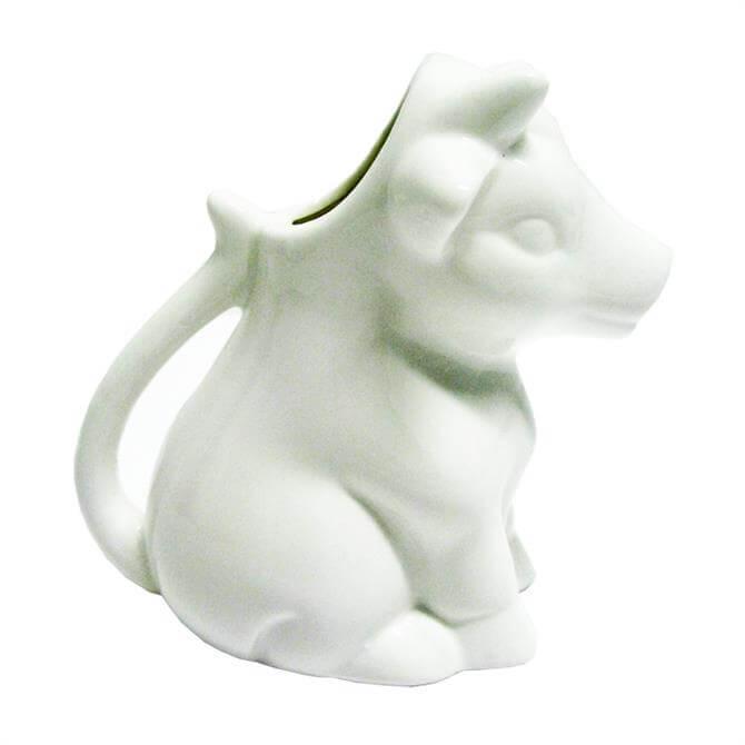 CKS White Porcelain Cow Milk Jug