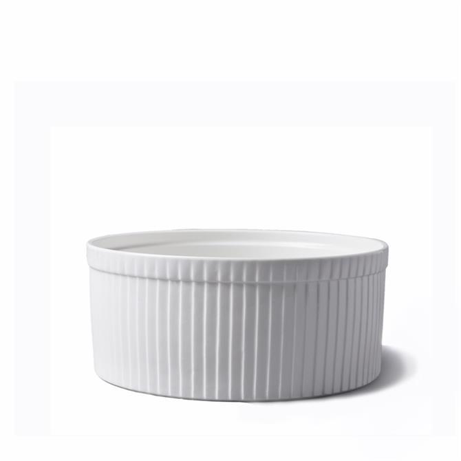 Cks White Porcelain Souffle Dish 22cm