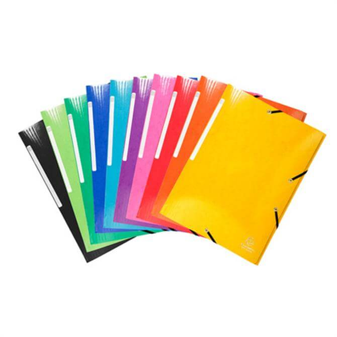 Clairefontaine Iderama 3-Flap Elasticated Folder 24 x 32 cms - Assorted