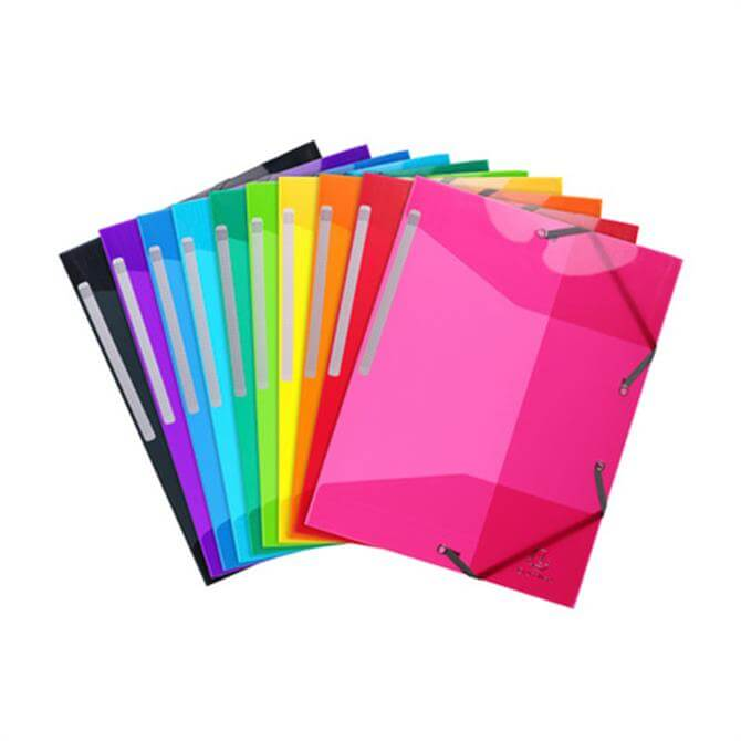 Clairefontaine 3-Flap Elasticated Two-Tone Folder 24 x 32 cms - Assorted