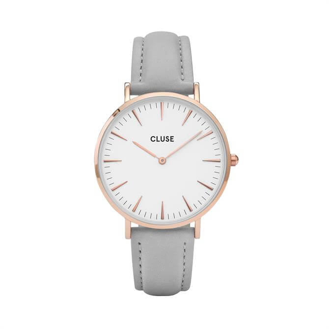 Cluse La Bohème Rose Gold White/Grey Watch
