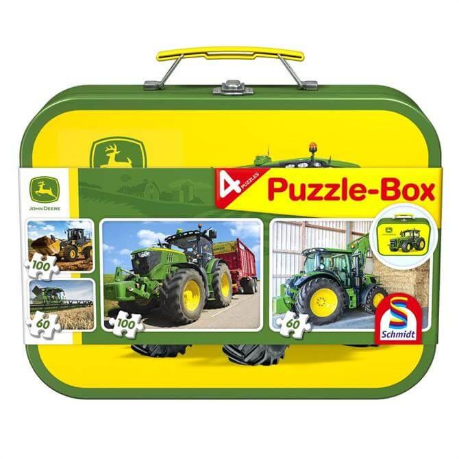 John Deere 4 Puzzles Keepsake Tin
