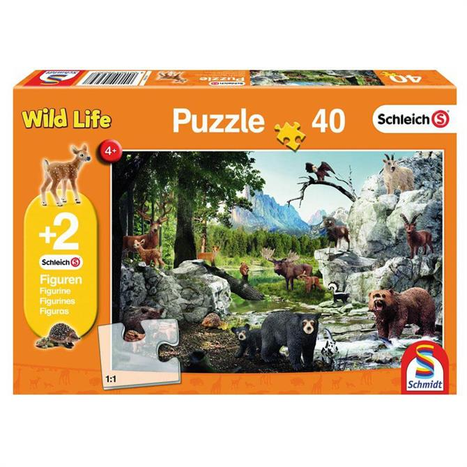 Schleich Wildlife Animals Jigsaw Puzzle 40PC