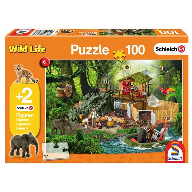 Schleich Croco Research Station Puzzle 100 Piece