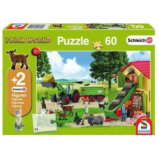 Schleich Hay Harvest Farm 40 Piece Puzzle