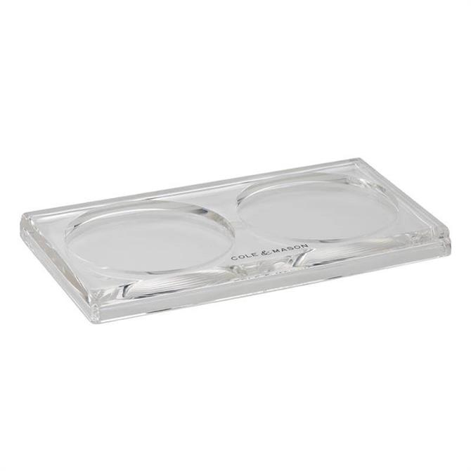 Cole & Mason Acrylic Salt And Pepper Mill Tray