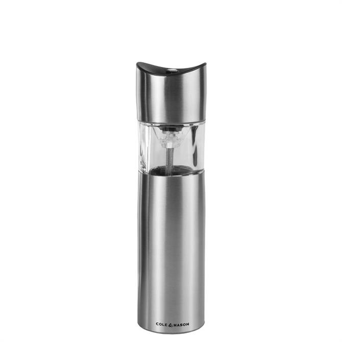 Cole & Mason Penrose Stainless Steel Electronic Salt & Pepper Mill 210mm