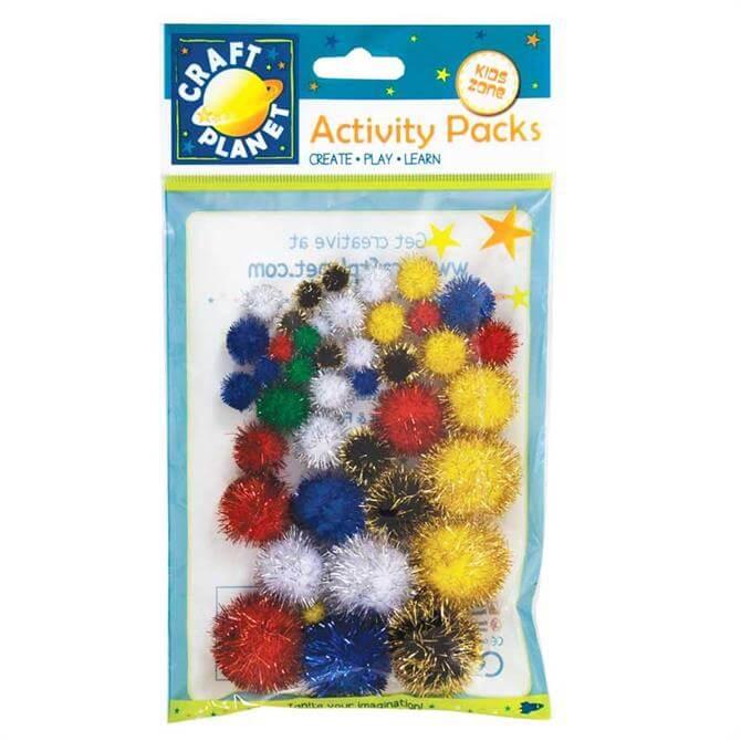 Craft Planet Glitter Pompoms
