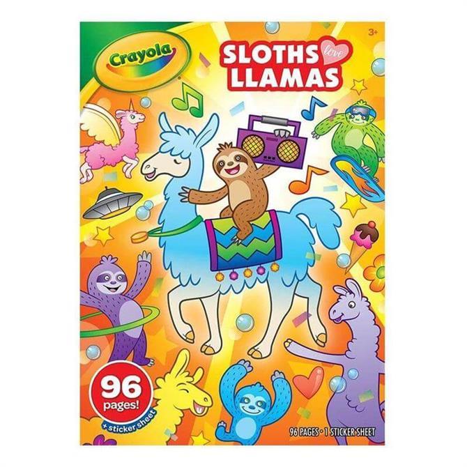 Crayola Sloths love Llamas Colouring Book