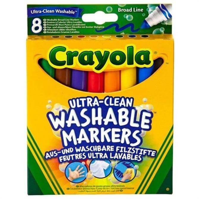 Crayola 8 Ultra-Clean Broad Line Markers