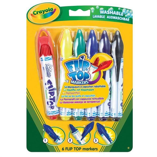 Crayola 6 Flip-Top Markers