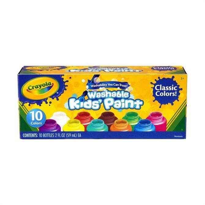 Crayola 10 Pack Kids' Washable Paints