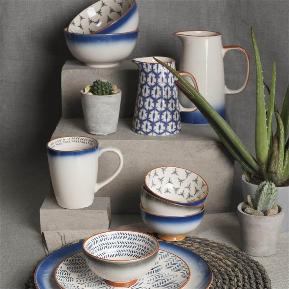 timeless design many fashionable outlet store Creative Tops Drift Ceramic Side Plate: Blue Markmaking