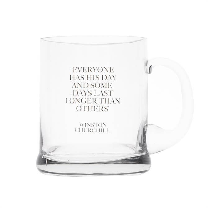 Earlstree & Co Glass Beer Tankard: Everyone Has His Day