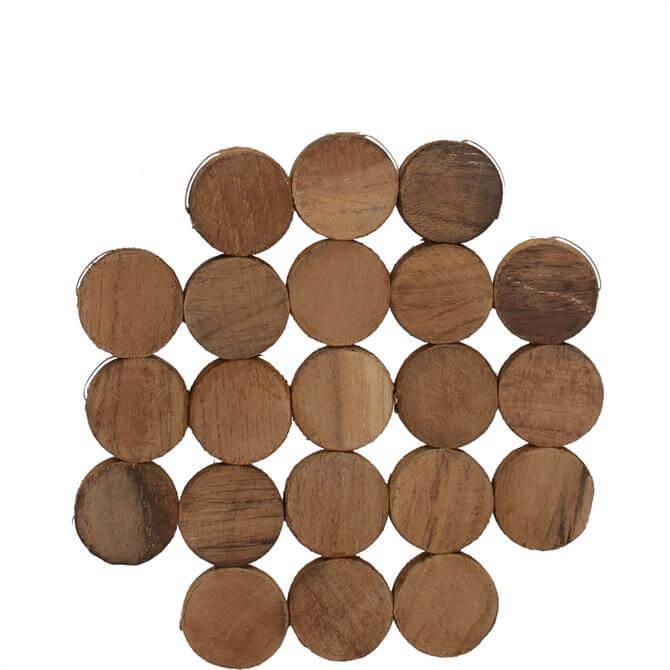Creative Tops Naturals Pack of 4 Circle Wood Coasters