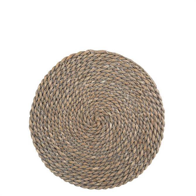 Creative Tops Naturals Greywash Round Mat
