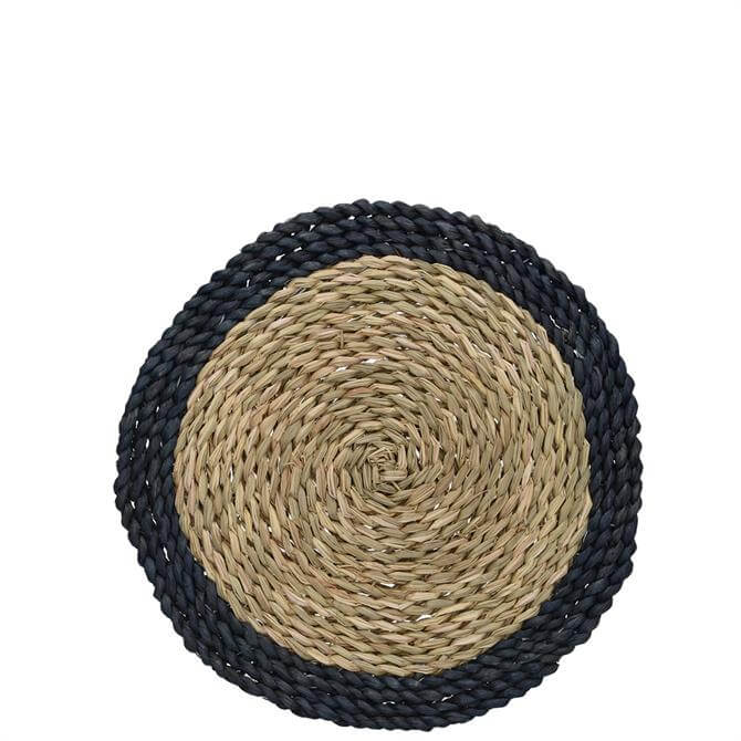 Creative Tops Naturals Pack of 4 Woven Grass Blue Placemats