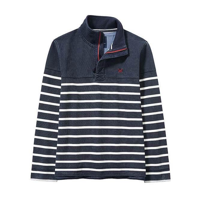 Crew Clothing Padstow Striped Pique Sweatshirt