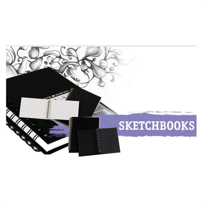 Daler Rowney Black Paper Portrait Spiral Sketchbook