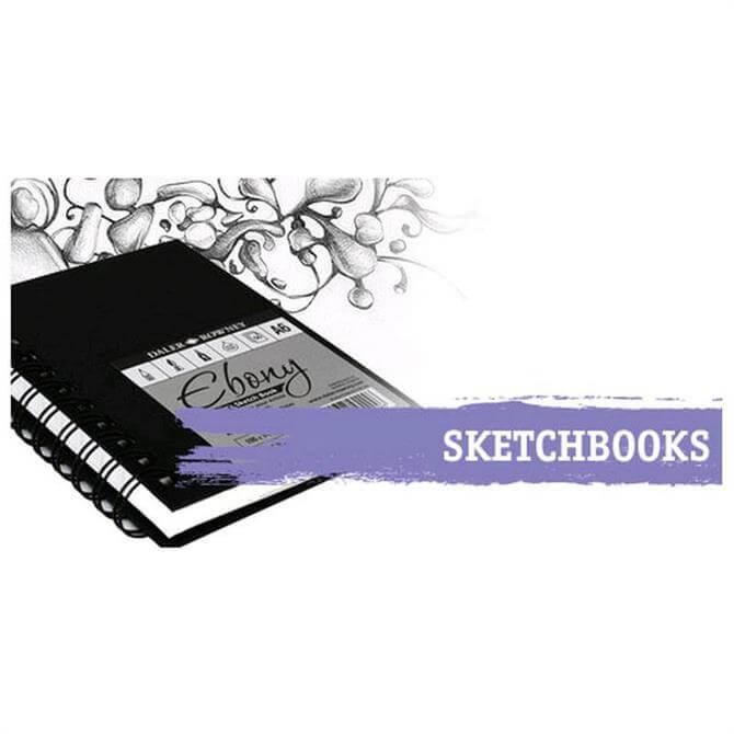 Daler Rowney Ebony Hardback Portrait Sketchbook A4