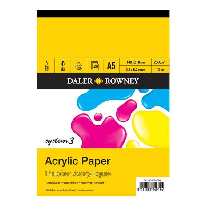 Daler Rowney System 3 Acrylic Pad