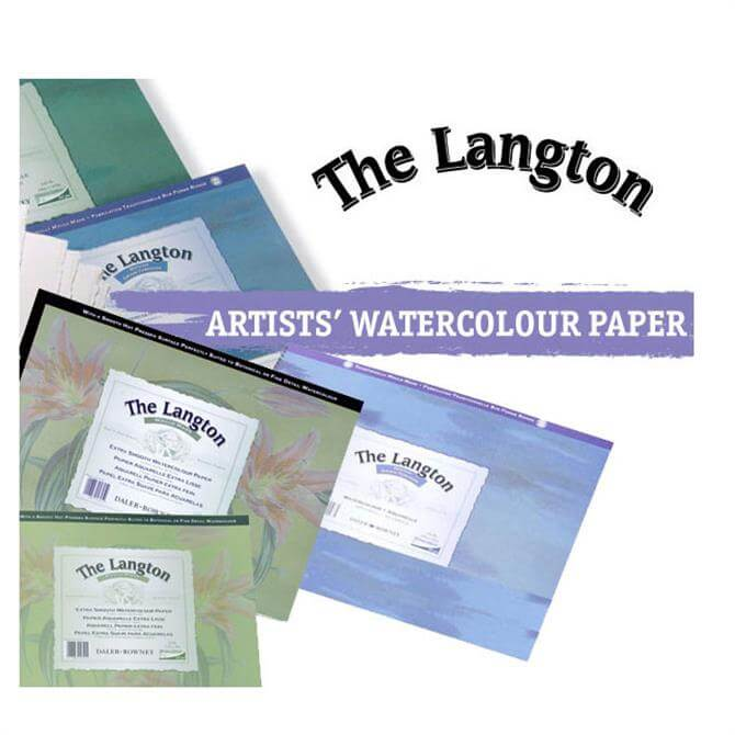 Daler Rowney Langton Water Colour Pad Hot Pressed Surface - Assorted