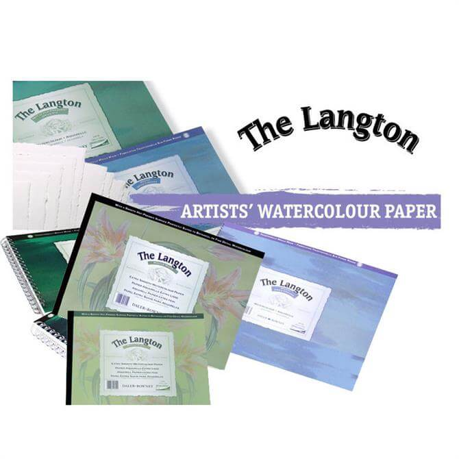 Daler Rowney Langton Water Colour NOT Surface Spiral Pad