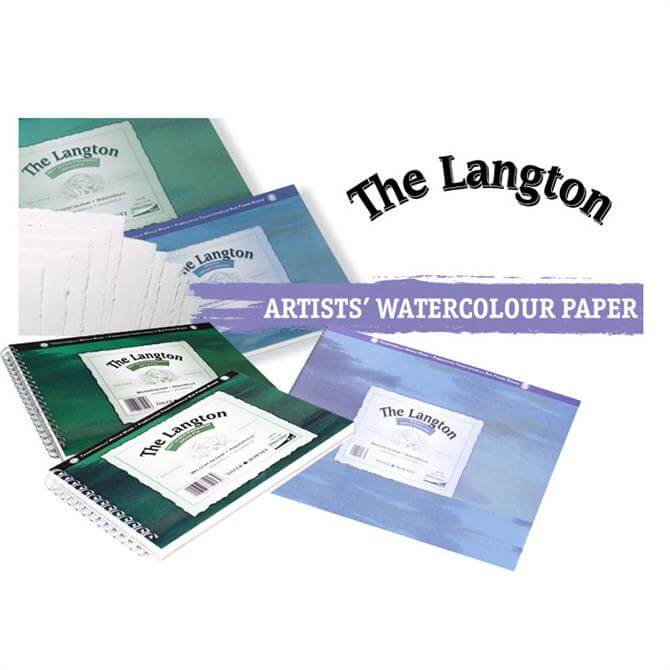 Daler Rowney Langton Water Colour Spiral Pad NOT Surface - Assorted