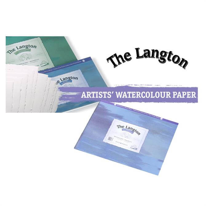 Daler Rowney Langton Water Colour Spiral Rough Surface Pad - Assorted