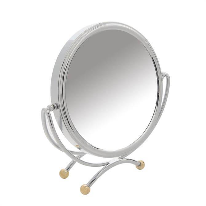 Danielle Chrome & Gold Table Mirror