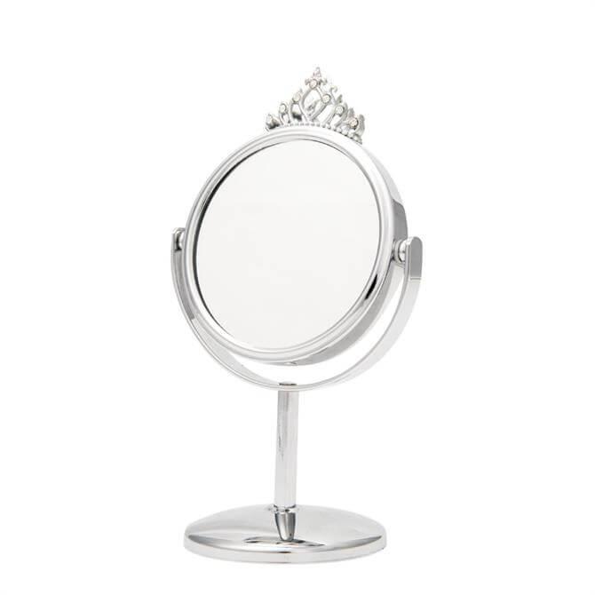 Danielle Chrome Crown Mini Mirror