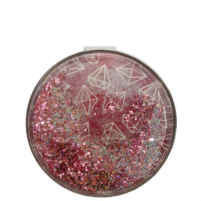 Danielle Gemporium Pink Glitter Compact Mirror