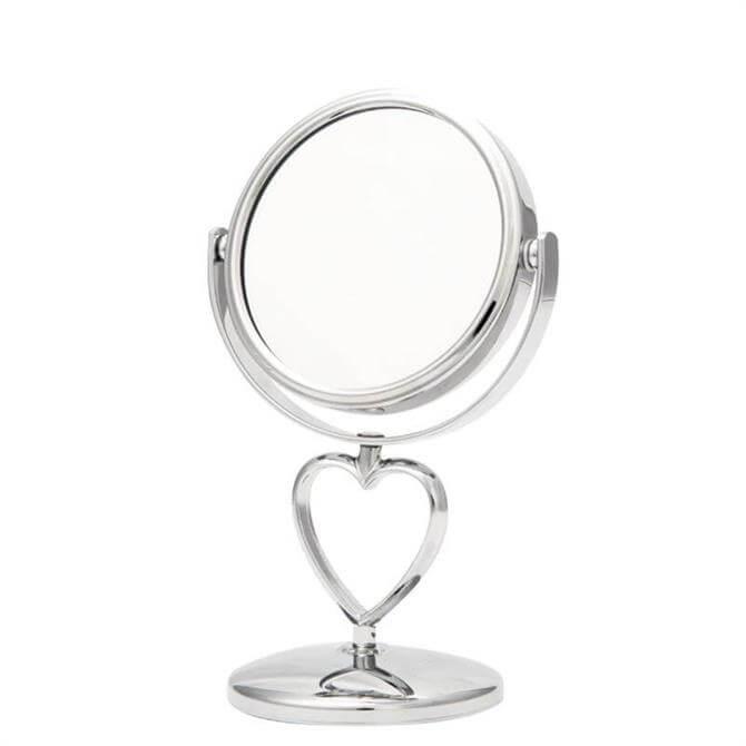 Danielle Chrome Heart Mini Mirror