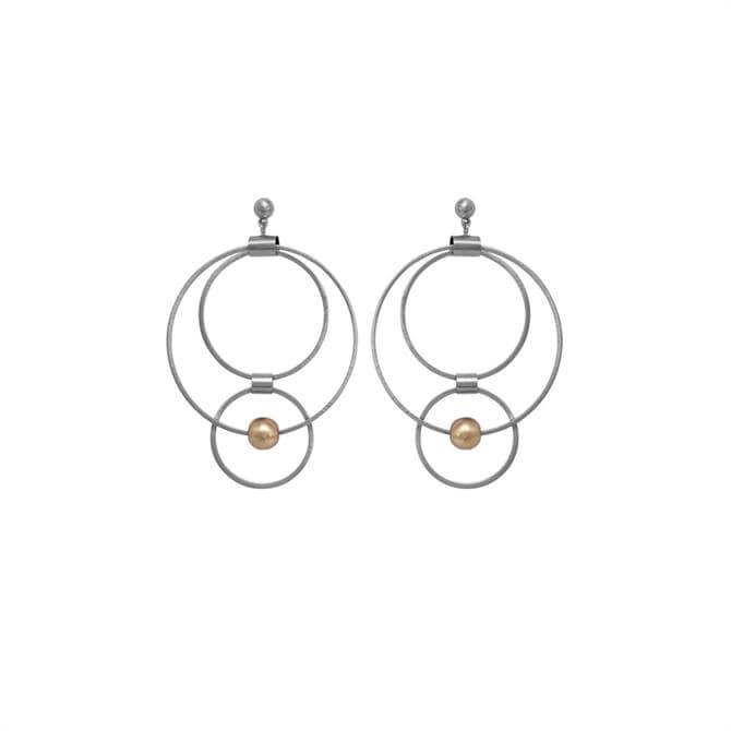 Dansk Smykkekunst Rhodium/Rose Gold Tamara Orbit Earrings