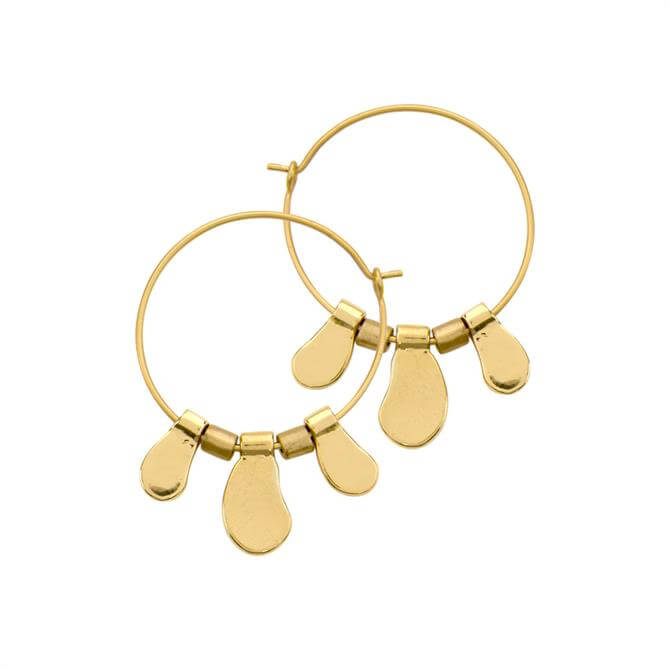 Dansk Smykkekunst Alina Gold Organic Hoop Earrings