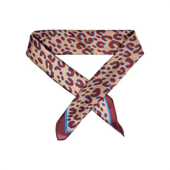 Dansk Smykkekunst Leopard Print Silky Scarf