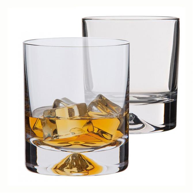 Dartington Dimple Set of 2 Whisky Glasses (Old Fashioned)