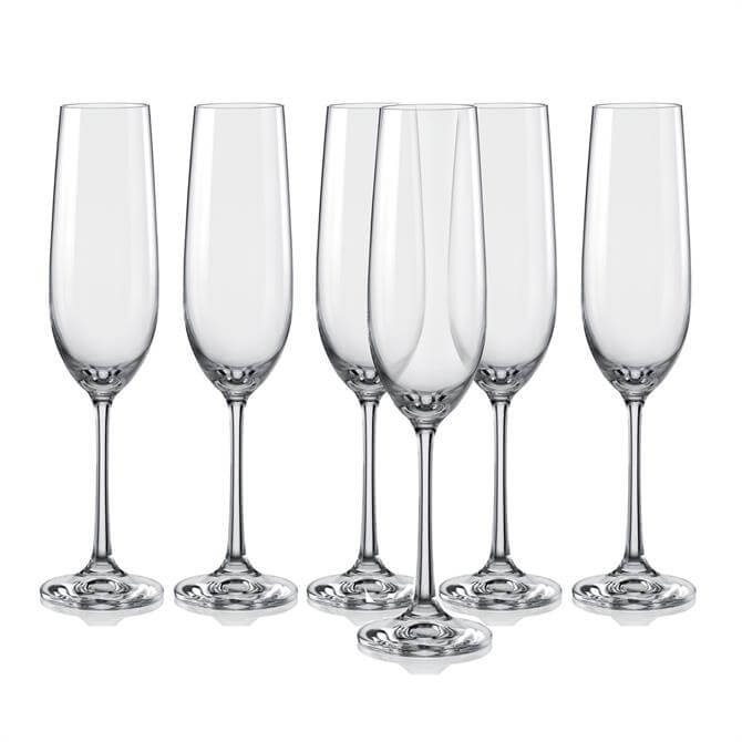 Dartington Flutes Collection Champagne Flutes: Set Of 6