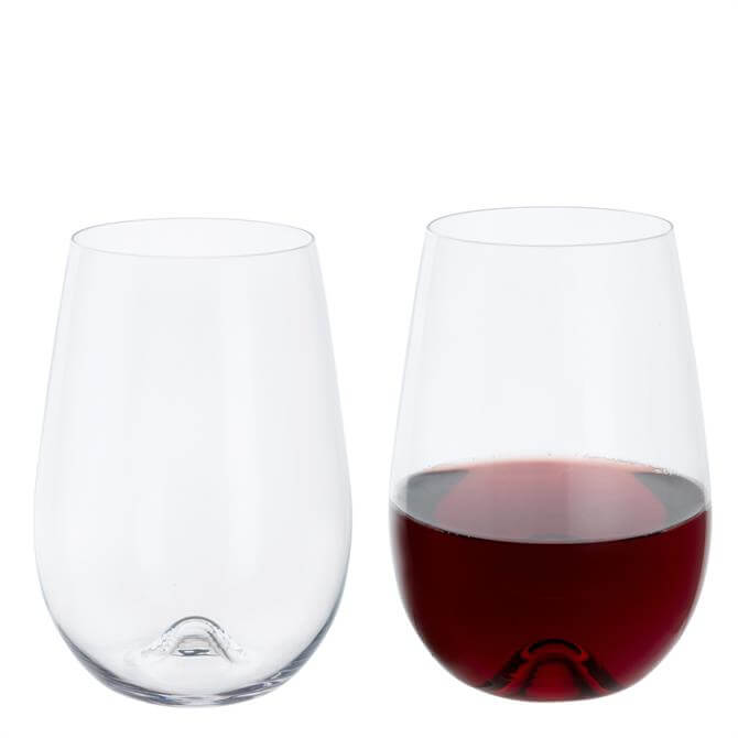 Dartington Wine & Bar Stemless Red Wine Glasses Set of 2