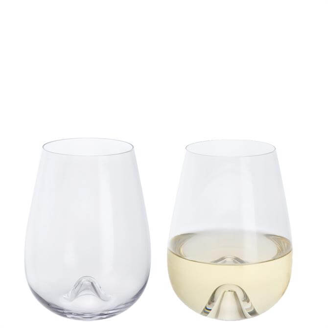 Dartington Wine & Bar Stemless White Wine Glasses Set of 2