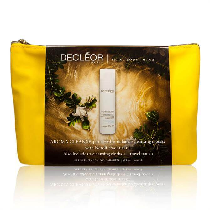 Decleor Aroma Cleanse 3 In 1 Hydra-Radiance Cleansing Mousse and Pouch
