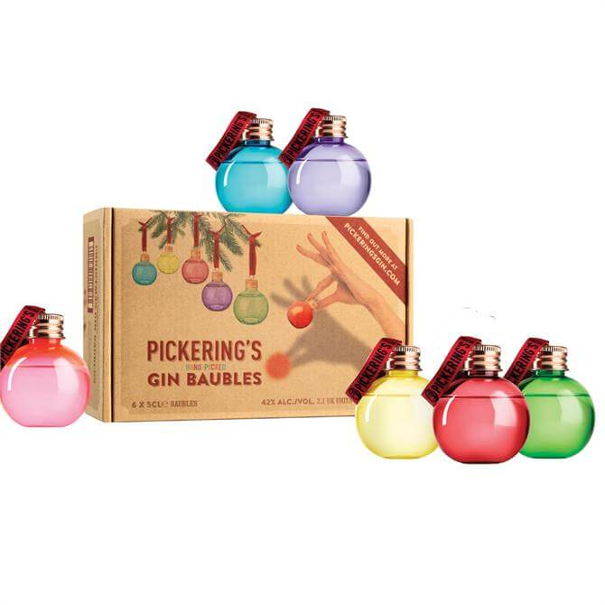 Pickering's Gin Baubles: Pack Of 6