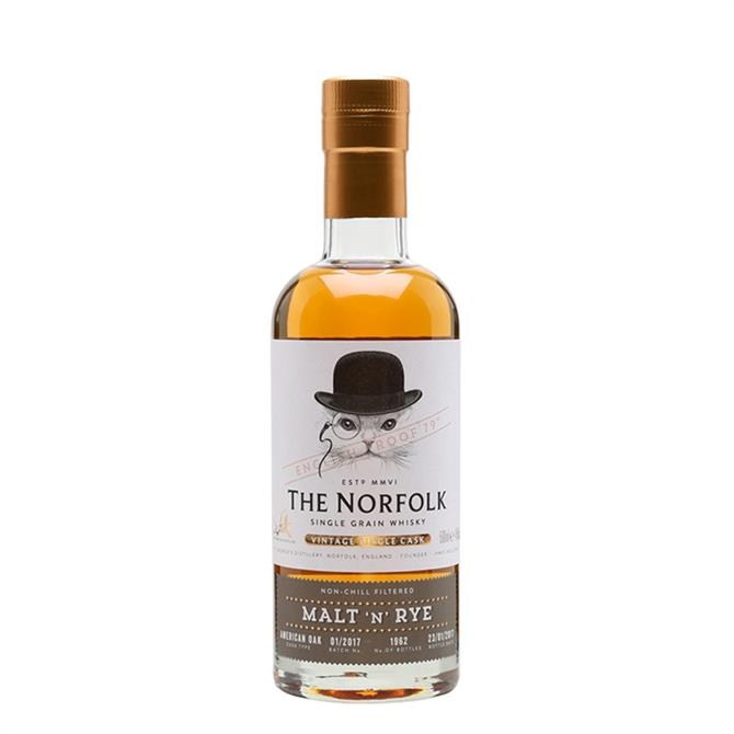 The Norfolk Malt 'N' Rye Single Grain Whisky: 50cl